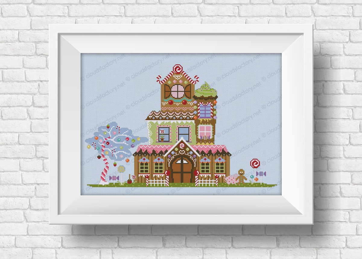 Gingerbread House Houses And Lanes Cross Stitch