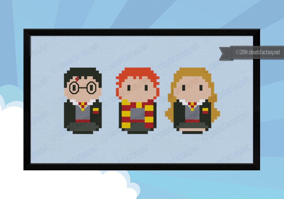 Harry Potter Harry Ron Amp Hermione Digital Cross