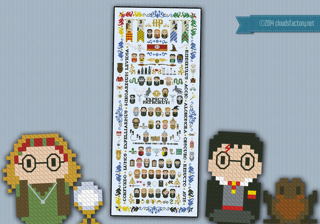 Harry Potter Giant Version 5 Parts Digital Cross
