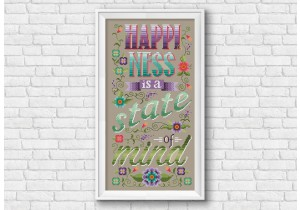 happiness cross stitch