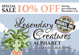 Legendary Creatures Alphabet - Yearly Stitch a Long and Kit