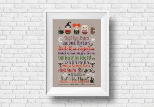 Hocus Pocus spell cross stitch pattern by Cloudsfactory