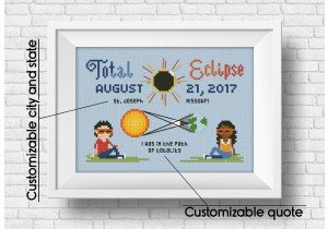 Solar Eclipse cross stitch