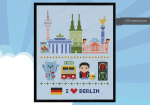 Berlin cross stitch pattern