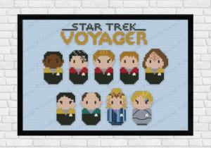 star trek voyager cross stitch
