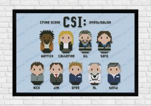csi cross stitch pattern