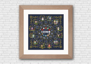 Through the Stars Zodiac sampler - Pattern and Kit