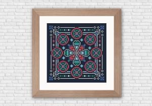 Arabesque cross stitch pattern