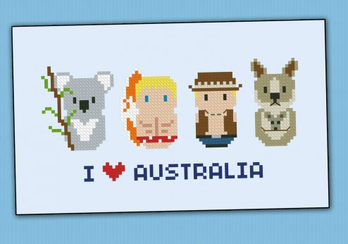 Australia icons (small version) – Mini people around the world