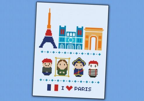 Paris icons (big version) – Mini people around the world