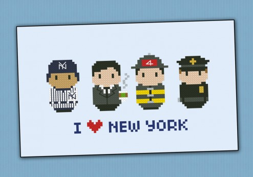 New York icons (small version) – Mini people around the world