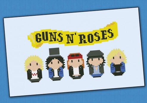 Guns N' Roses rock band