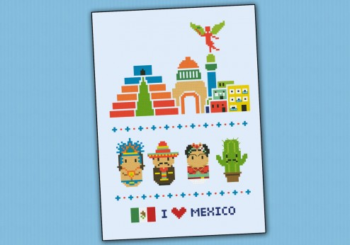 Mexico icons (big version) – Mini people around the world