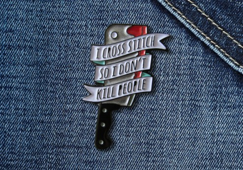 Pin - I Cross Stitch So I Don't Kill People