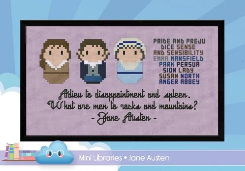 Jane Austen cross stitch pattern by Cloudsfactory