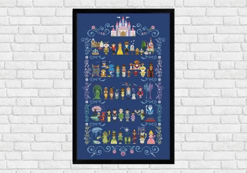 Center Column on dark blue - Epic Storybook Princesses