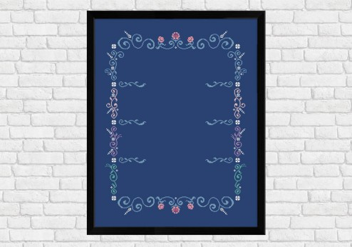 Left-Right Column Frame on dark blue - Epic Storybook Princesses