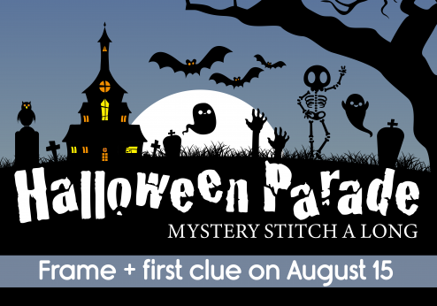 Halloween Parade Banner - Monthly Stitch a Long