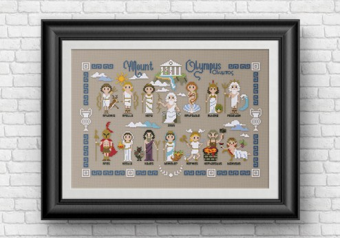 Greek gods cross stitch pattern
