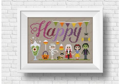 Happy - It's a spooky wor(l)d Halloween series