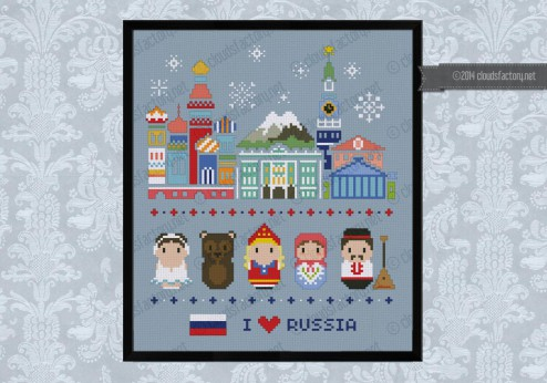 Russia icons (big version) - Mini people around the world