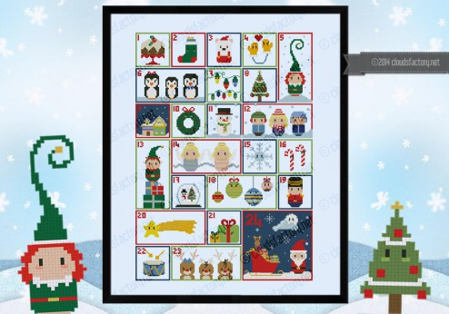 Christmas Advent Calendar sampler