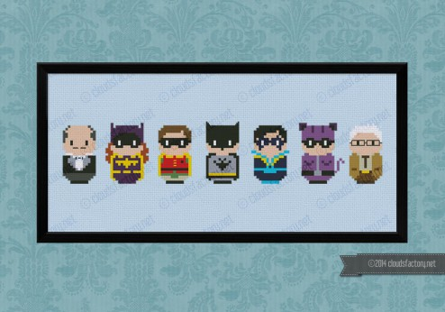 Batman cross stitch pattern