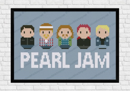 Pearl Jam cross stitch pattern