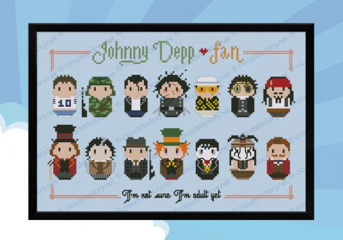 Johhny Deep cross stitch pattern
