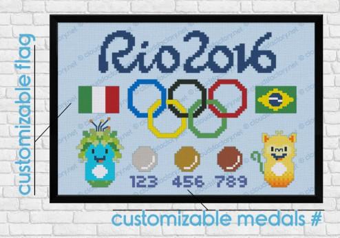 Rio 2016 cross stitch