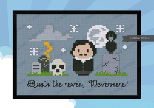 edgar allan poe nevermore cross stitch