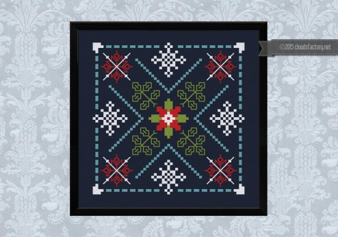 Free christmas cross stitch by Cloudsfactory