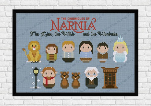 The Chronicles of Narnia cross stitch pattern