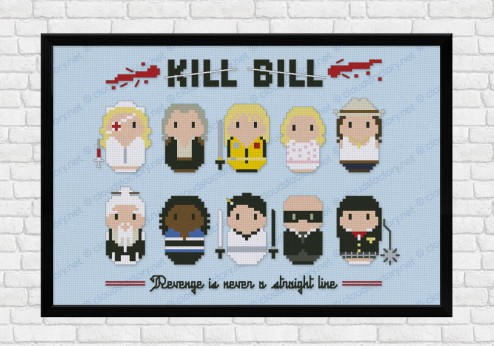 kill bill cross stitch pattern