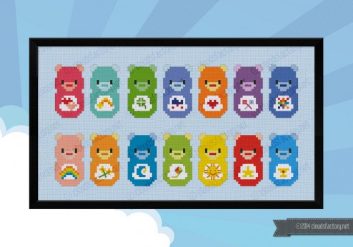 Care Bears cross stitch pattern