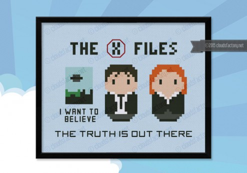 X-files cross stitch