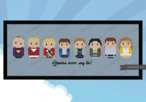 Goonies cross stitch pattern