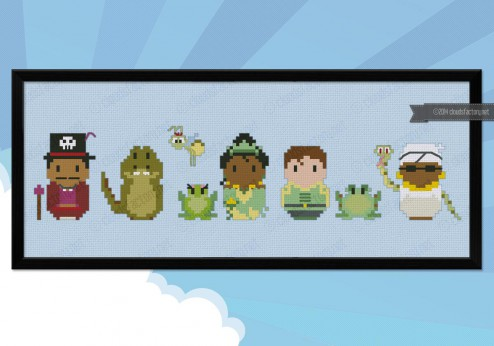 The Princess and the Frog cross stitch pattern by Cloudsfactory