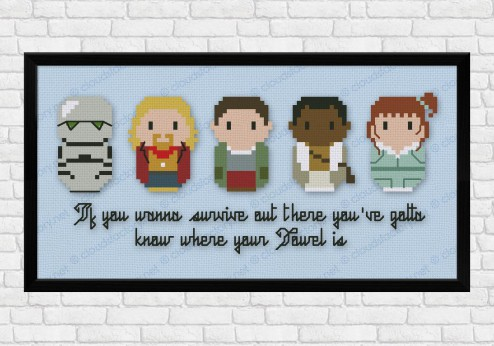 hitchhiker's guide cross stitch pattern