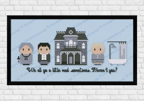 psycho cross stitch pattern
