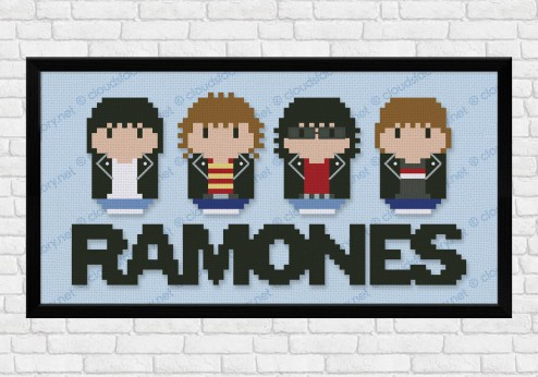 Ramones cross stitch pattern