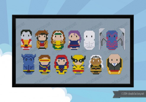 X-Men cross stitch pattern