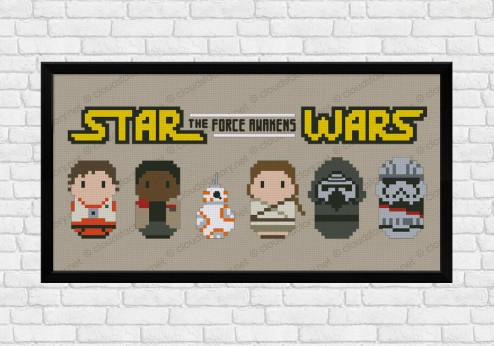 Star Wars 7 cross stitch pattern