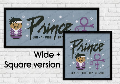 Prince cross stitch pattern
