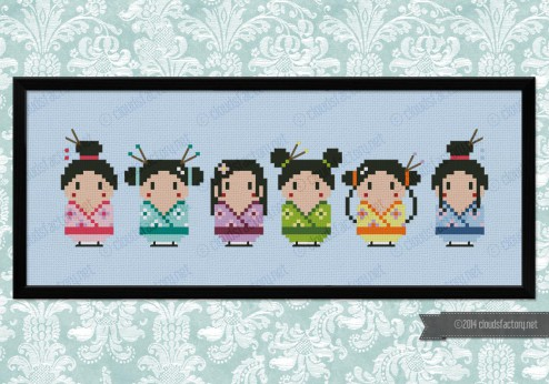 Cute little geishas