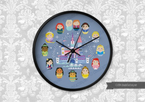Disney Princesses Clock