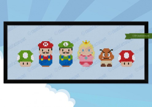 Super Mario cross stitch