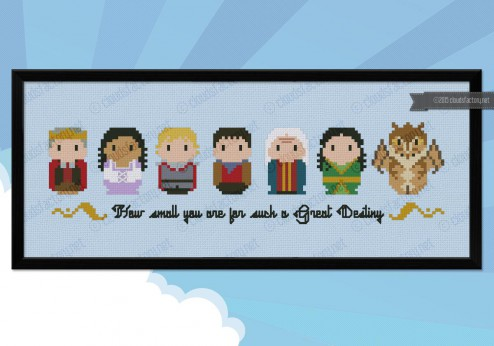 Merlin cross stitch pattern