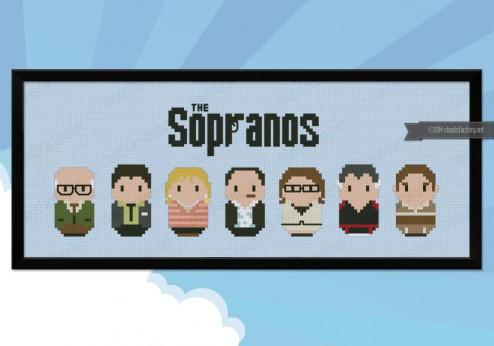 The Sopranos cross stitch pattern