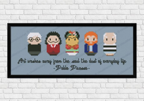 modern artists cross stitch pattern